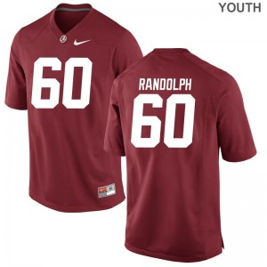 Kendall Randolph Jerseys S-XL Alabama Crimson Tide Youth Limited - Red