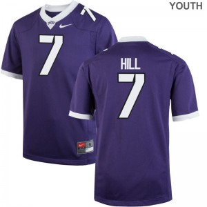 Kenny Hill Youth Purple Jersey Limited Texas Christian