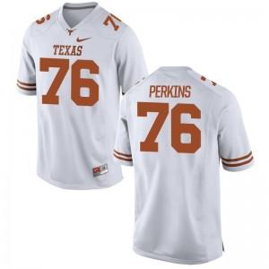 Longhorns Kent Perkins Jerseys S-XL For Kids Limited Jerseys S-XL - White
