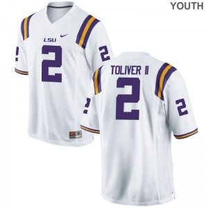 For Kids Limited Louisiana State Tigers Jerseys S-XL Kevin Toliver II - White