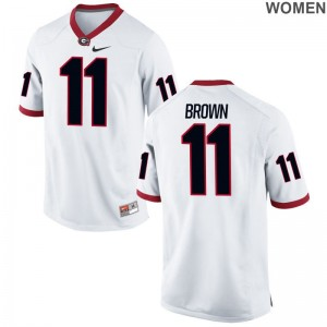 Keyon Brown Womens Jersey S-2XL Georgia Bulldogs Limited White