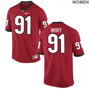 Ladies Limited UGA Bulldogs Jersey of Kolby Wyatt - Red