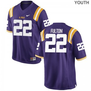 Kristian Fulton Louisiana State Tigers Jersey Purple Kids Game