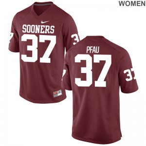 Kyle Pfau Oklahoma Sooners Jersey Womens Limited Crimson