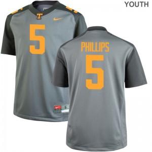 Kids Kyle Phillips Jersey Gray Game UT Jersey