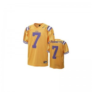 Leonard Fournette Tigers Jersey Gold Limited Youth(Kids)
