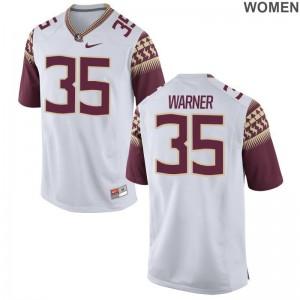 Leonard Warner Game Jerseys Women Player FSU White Jerseys