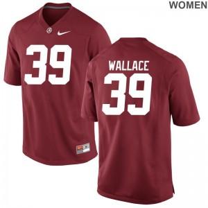Game Alabama Crimson Tide Levi Wallace For Women Red NCAA Jerseys