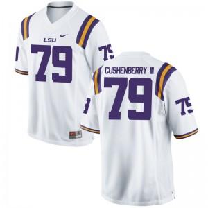 LSU Lloyd Cushenberry III Jerseys White For Men Limited Jerseys