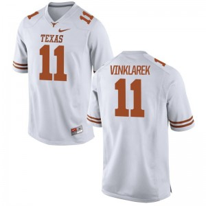 Limited Youth White University of Texas Football Jersey of Logan Vinklarek