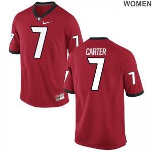 University of Georgia Lorenzo Carter College Jersey Game Women Red