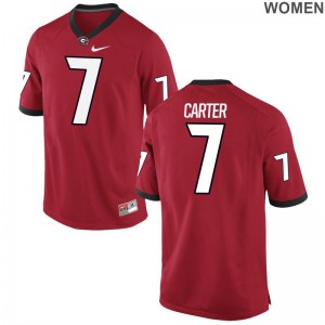 Georgia Lorenzo Carter Limited For Women Red Football Jersey