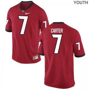 Georgia Lorenzo Carter Game Jersey Red Youth(Kids)