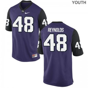 TCU Horned Frogs Game Lucas Reynolds For Kids Purple Black Jersey S-XL