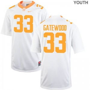 MaLeik Gatewood Youth Jerseys Tennessee Vols Game White