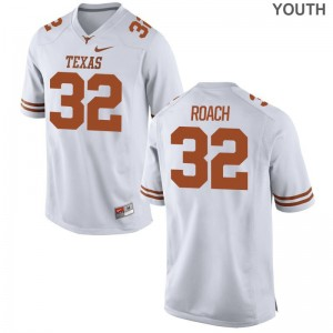 UT College Jerseys of Malcolm Roach White Youth(Kids) Game