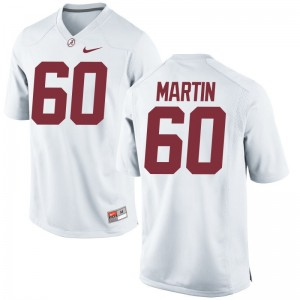 White Limited Malik Martin Jersey S-3XL Mens Alabama Crimson Tide