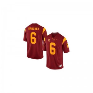 Mark Sanchez Ladies Jerseys S-2XL Trojans Game - Cardinal