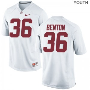 Bama Markail Benton Jerseys Limited For Kids - White