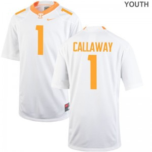 Marquez Callaway Youth Jerseys UT Limited - White