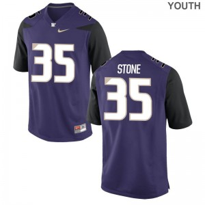 Washington Huskies Mason Stone Game Kids Jersey S-XL - Purple