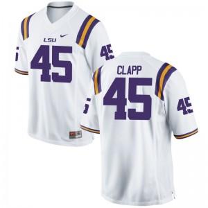 Matt Clapp Jersey S-3XL For Men LSU Tigers White Limited
