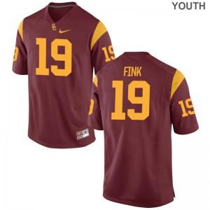 Matt Fink Kids White Jerseys S-XL Limited USC