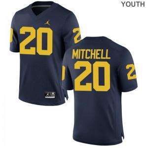 Matt Mitchell Wolverines Jerseys S-XL Game Youth - Jordan Navy
