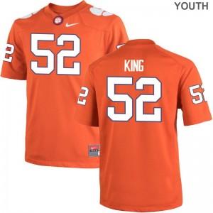 Clemson Matthew King Game Youth College Jerseys - Orange