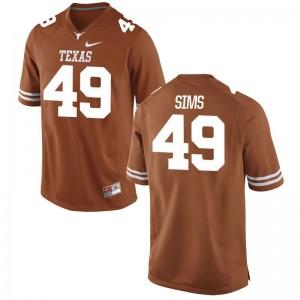 Men Matthew Sims Jerseys S-3XL University of Texas Game Orange