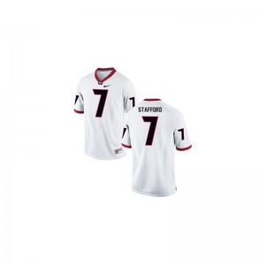 White Matthew Stafford Jerseys Georgia Women Limited