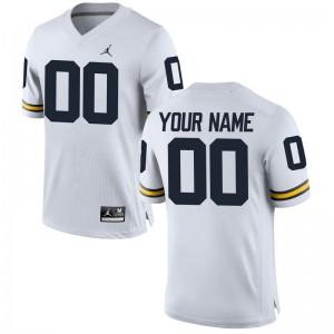 Mens Custom Jersey University of Michigan Brand Jordan White Limited