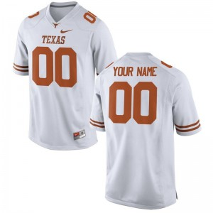 Customized Jerseys Longhorns Limited For Men - White