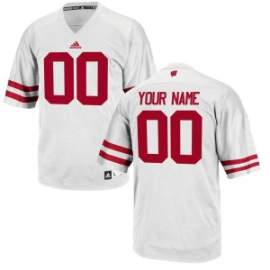 Wisconsin Badgers Customized Jerseys S-3XL Limited White Mens