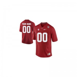 Alabama Crimson Tide Custom Jerseys Men Red 2013 BCS Patch Limited
