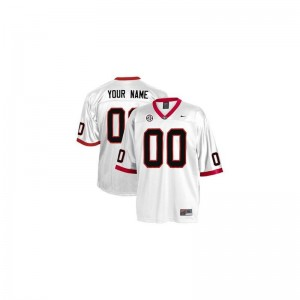 Georgia Bulldogs Custom Jersey S-3XL of Limited Men - White