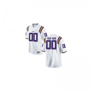 Customized Jersey S-3XL For Men Louisiana State Tigers White Limited