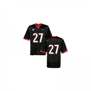 Georgia Bulldogs Nick Chubb Jersey S-3XL #27 Black Game Mens