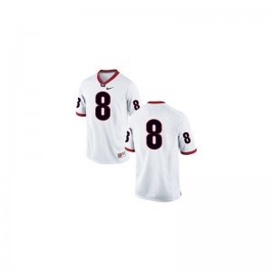 A.J. Green Georgia Mens #8 White Game Player Jersey