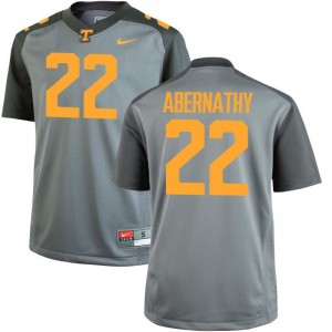 Tennessee Vols High School Micah Abernathy Game Jerseys Gray Mens