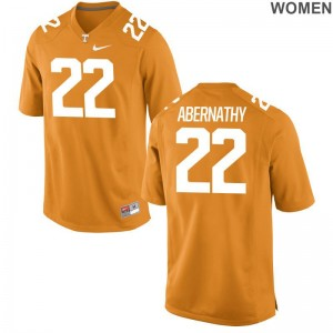 Micah Abernathy Tennessee Vols Ladies Orange Game College Jerseys