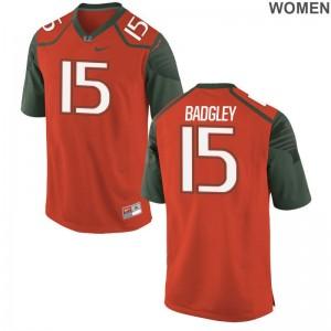 Hurricanes NCAA Jersey of Michael Badgley Limited Women - Orange