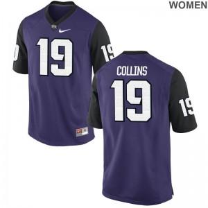 Michael Collins Limited Jerseys For Women Football TCU Horned Frogs Purple Black Jerseys