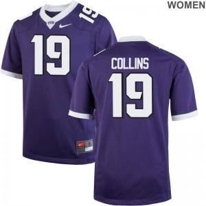 Ladies Limited Texas Christian Jerseys Michael Collins Purple Jerseys