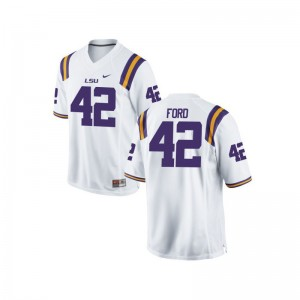 LSU Tigers Michael Ford Jerseys Game For Women - White