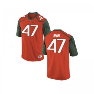 Michael Irvin University of Miami Youth(Kids) Limited Player Jerseys - Orange_Green