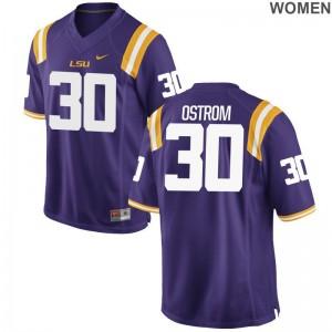 Tigers College Jersey Michael Ostrom Purple Ladies Game