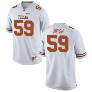 Limited White Youth(Kids) University of Texas Player Jerseys of Michael Welsh