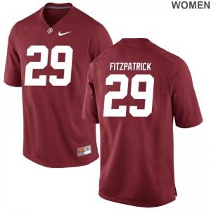For Women Limited Alabama Jerseys Minkah Fitzpatrick Red Jerseys