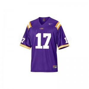 Morris Claiborne For Women Football Jerseys LSU Purple Limited